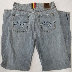 LRG 5 pocket jeans men sz 38 Lifted Research Group